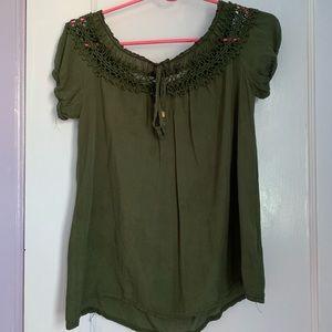 Dark Green Blouse (NWOT)